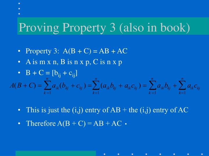Proving Property 3 (also in book)