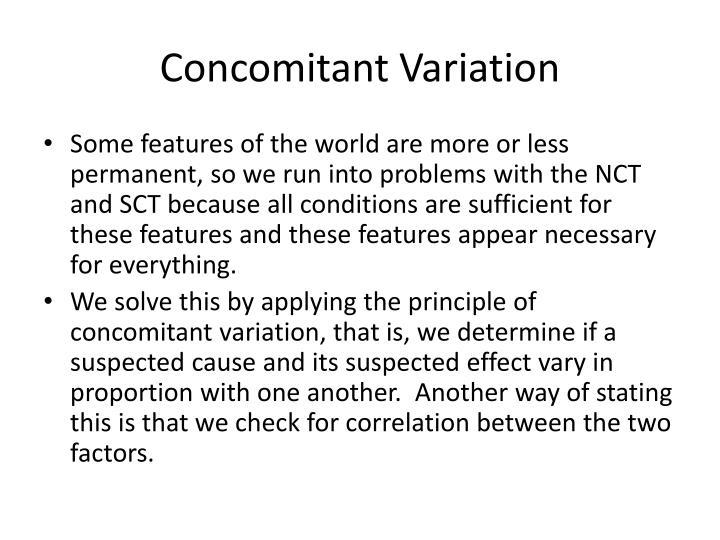 Concomitant Variation