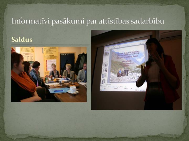 Informatīvi pasākumi par attīstības sadarbību