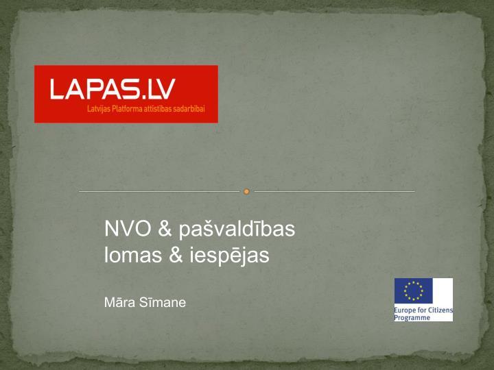 NVO & pašvaldības