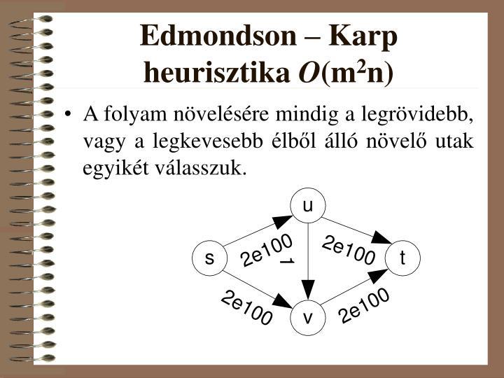 Edmondson – Karp heurisztika