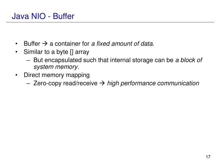 Java NIO - Buffer