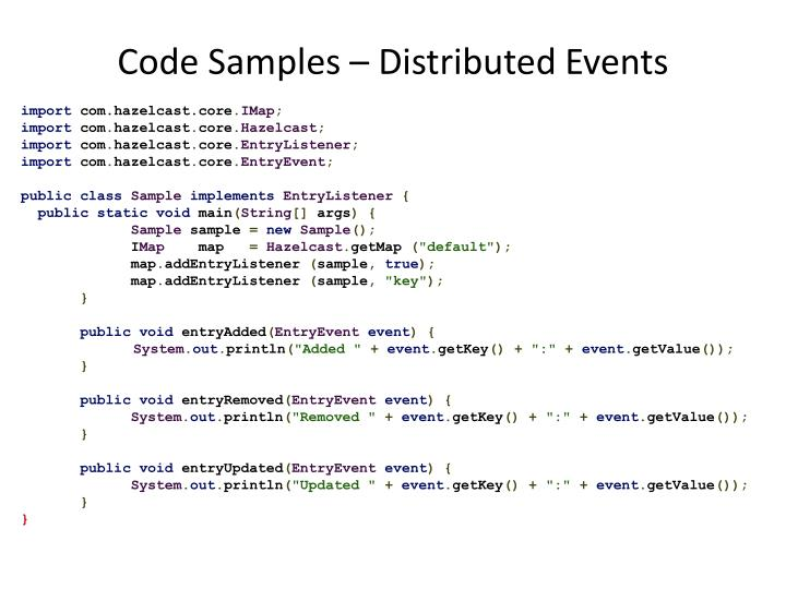 Code Samples – Distributed Events