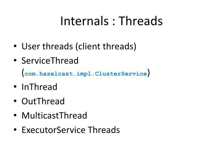 Internals : Threads