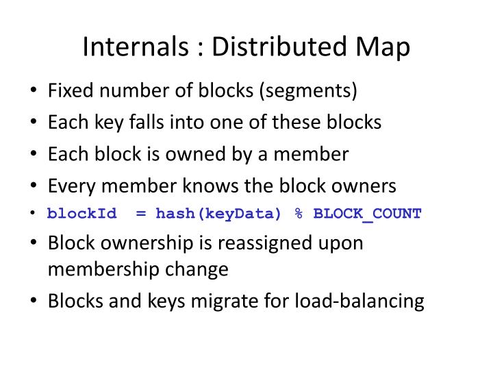 Internals : Distributed Map