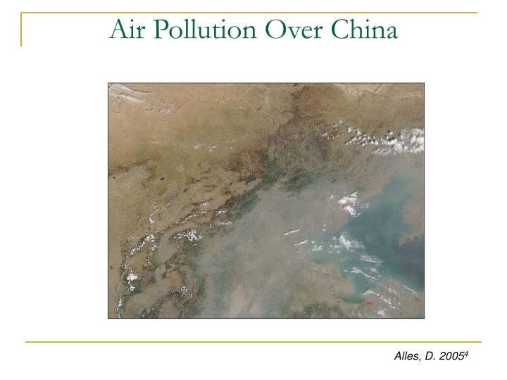 Air Pollution Over China