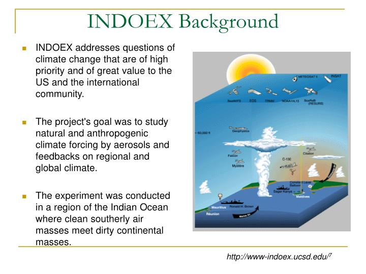 INDOEX addresses questions of climate change that are of high priority and of great value to the US and the international community.