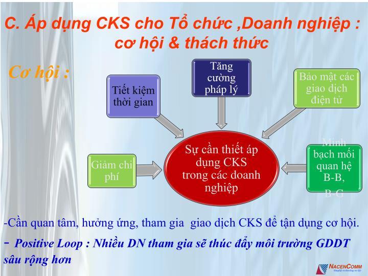 C. Áp dụng CKS cho Tổ chức ,Doanh nghiệp : cơ hội & thách thức