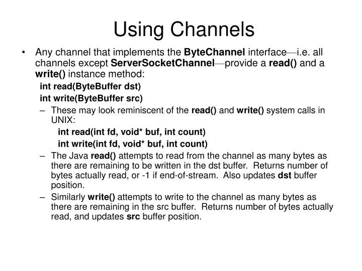 Using Channels
