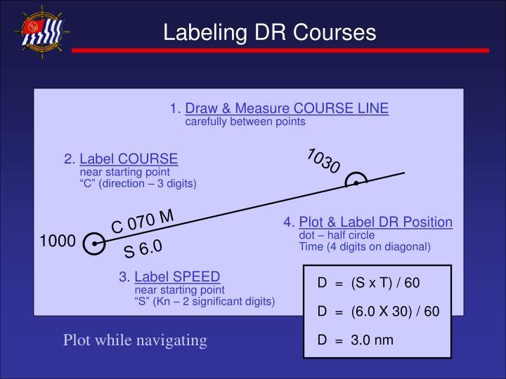 Labeling DR Courses