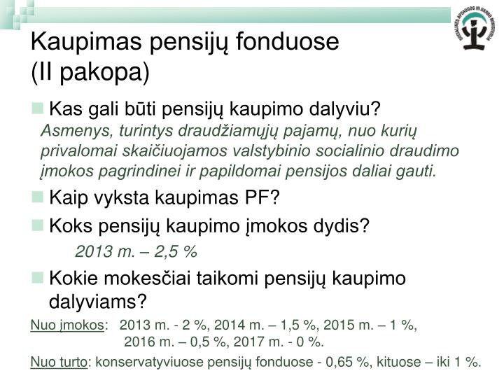 Kaupimas pensijų fonduose