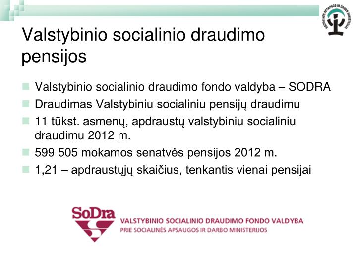 Valstybinio socialinio draudimo pensijos