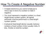 how to create a negative number