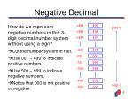 negative decimal