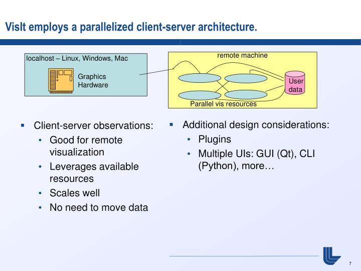 Client-server observations: