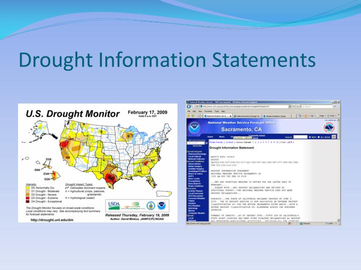 Drought Information Statements
