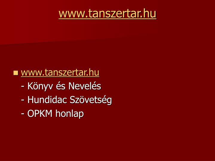 www.tanszertar.hu
