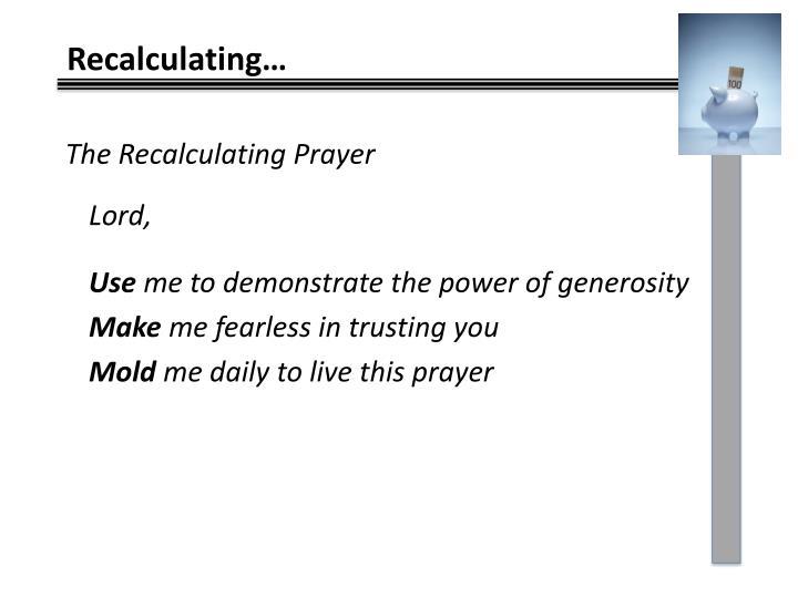 The Recalculating Prayer