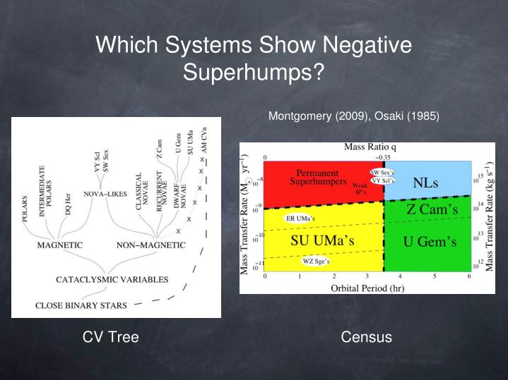 Which Systems Show Negative Superhumps?
