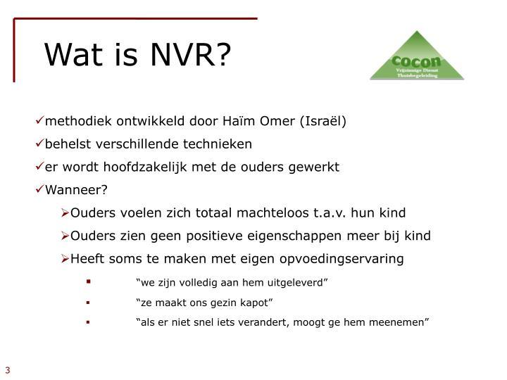 Wat is NVR?