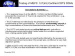 testing of mepc 107 49 certified cots ocms15