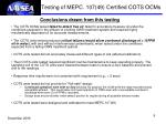 testing of mepc 107 49 certified cots ocms4