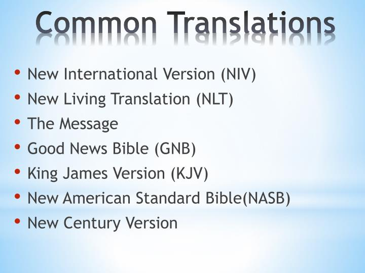 Common translations