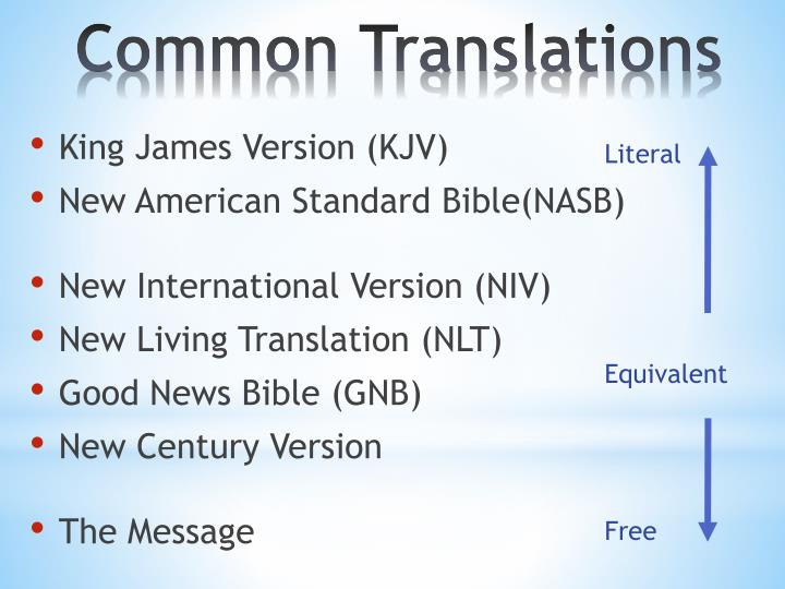 Common translations1
