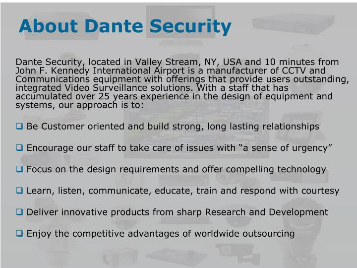 About dante security
