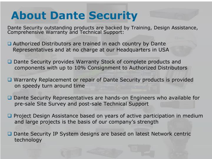 About dante security1