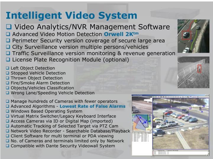 Intelligent Video System