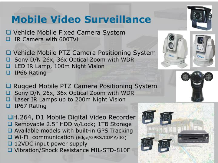 Mobile Video Surveillance