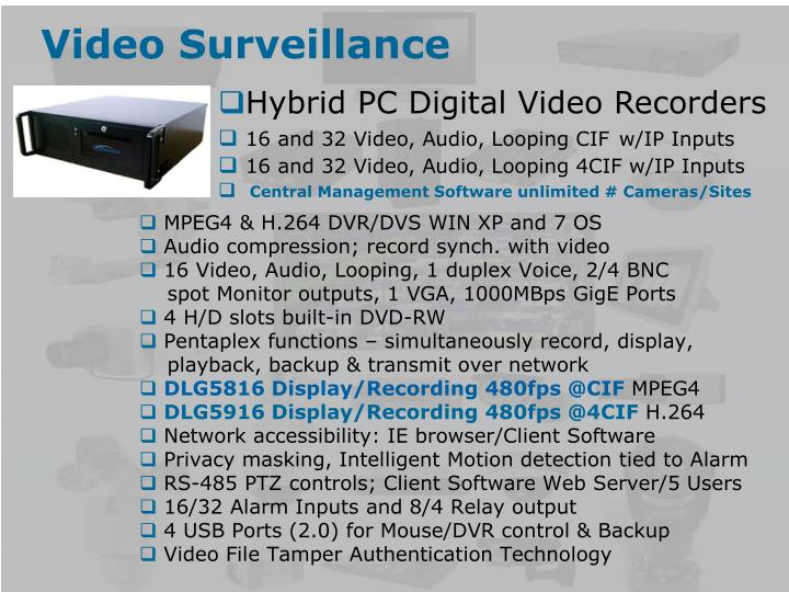 Hybrid PC Digital Video Recorders