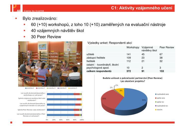 C1: Aktivity vzájemného učení