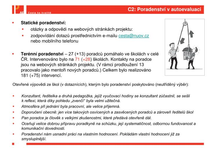 C2: Poradenství v autoevaluaci