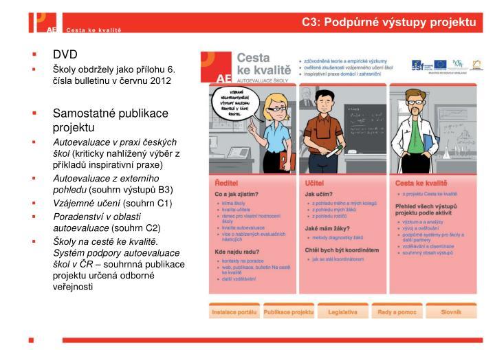 C3: Podpůrné výstupy projektu