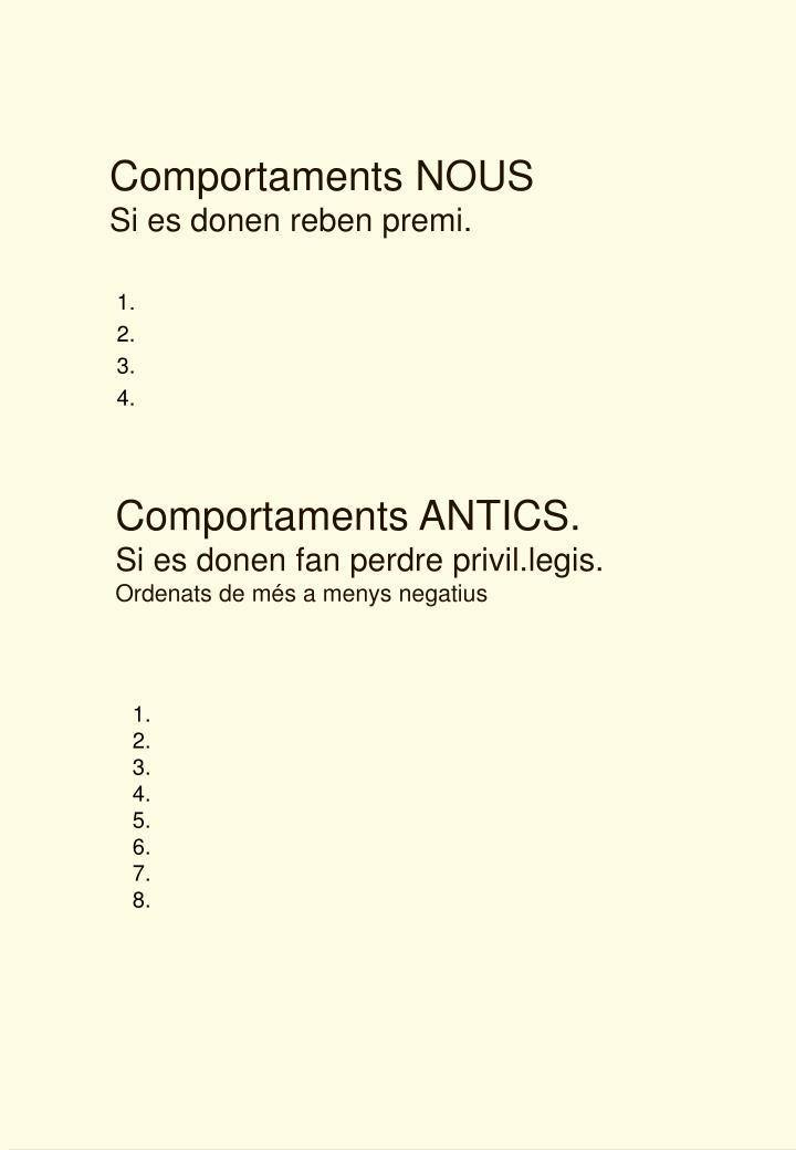 Comportaments NOUS