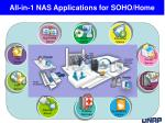 all in 1 nas applications for soho home