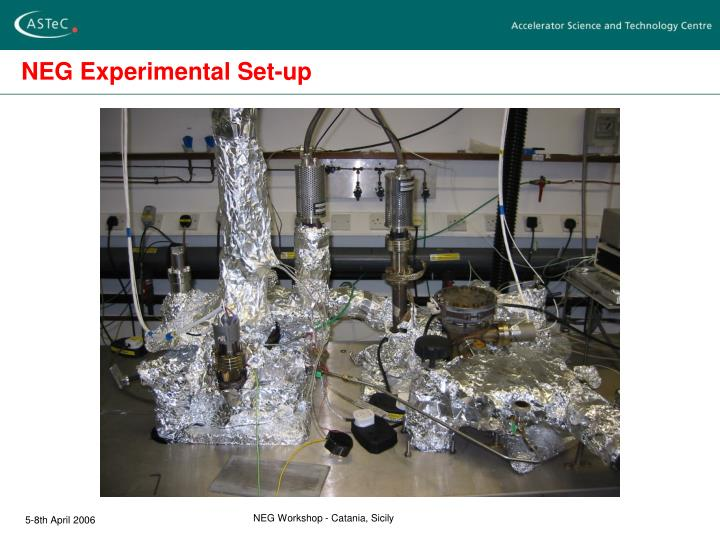 NEG Experimental Set-up
