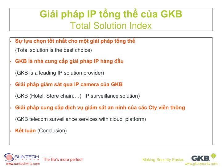 Giải pháp IP tổng thể của GKB