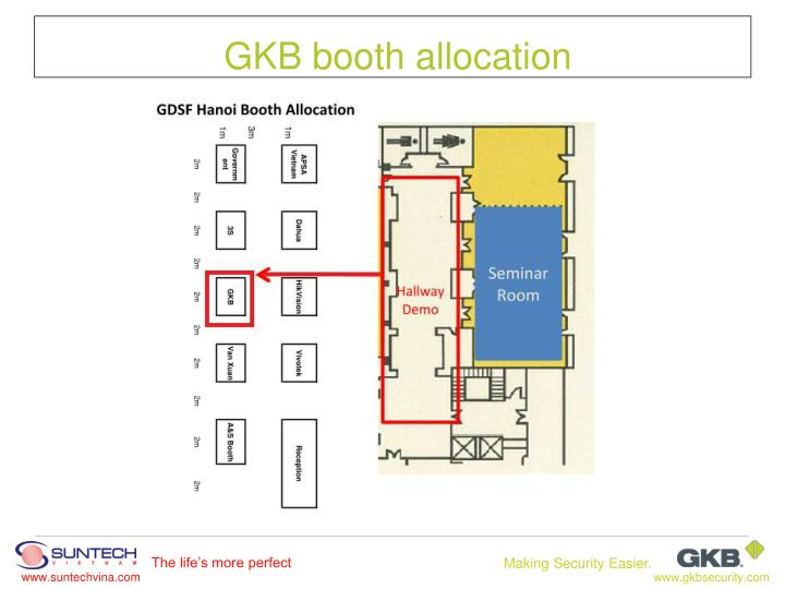 GKB booth allocation