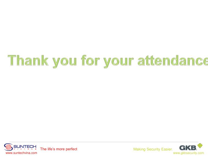 Thank you for your attendance