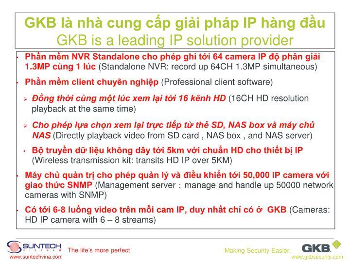 Phần mềm NVR Standalone cho phép ghi tới 64 camera IP độ phân giải 1.3MP cùng 1 lúc