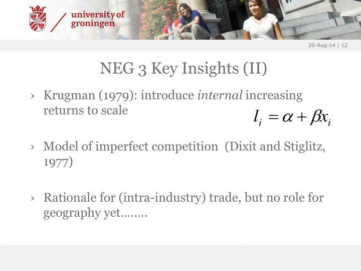 NEG 3 Key Insights (II)
