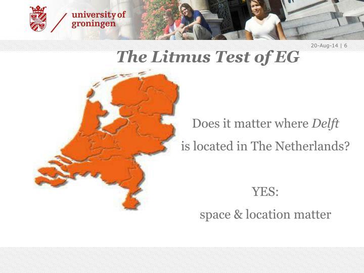 The Litmus Test of EG