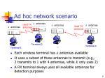 ad hoc network scenario