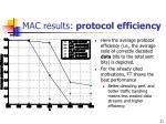mac results protocol efficiency