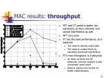 mac results throughput