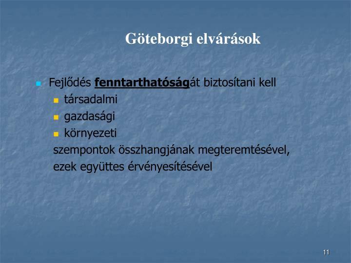 Göteborgi elvárások