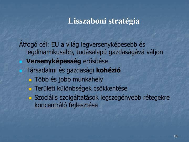 Lisszaboni stratégia